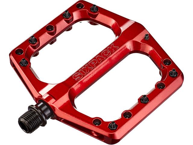 Sixpack Menace 3.0 AL Pedalen, red